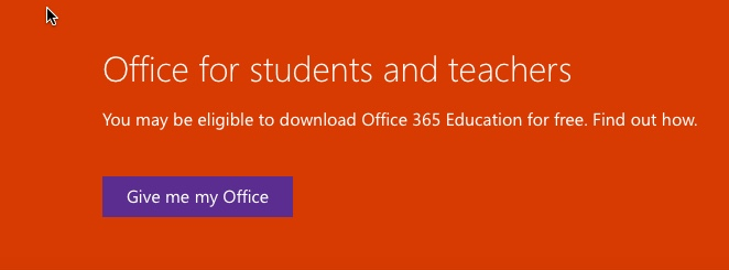 download office 365 home and student 2016