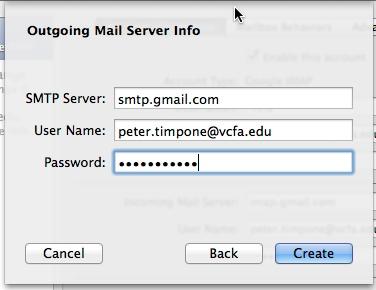 Mac Mail SMTP