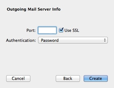Mac Mail SMTP more info