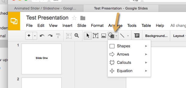 google sites adding forward and back buttons to your slider built