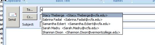 Delete Autocomplete Addresses in Microsoft Outlook - VCFA